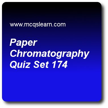 Paper Chromatography Quizzes: O level chemistry Quiz 174 Questions and Answers - Practice chemistry quizzes based questions and answers to study paper chromatography quiz with answers. Practice MCQs to test learning on paper chromatography, chemical symbols, relative molecular mass, atoms and elements quizzes. Online paper chromatography worksheets has study guide as presence of pesticides and herbicides can be tested through, answer key with answers as careful distillation, decanting..