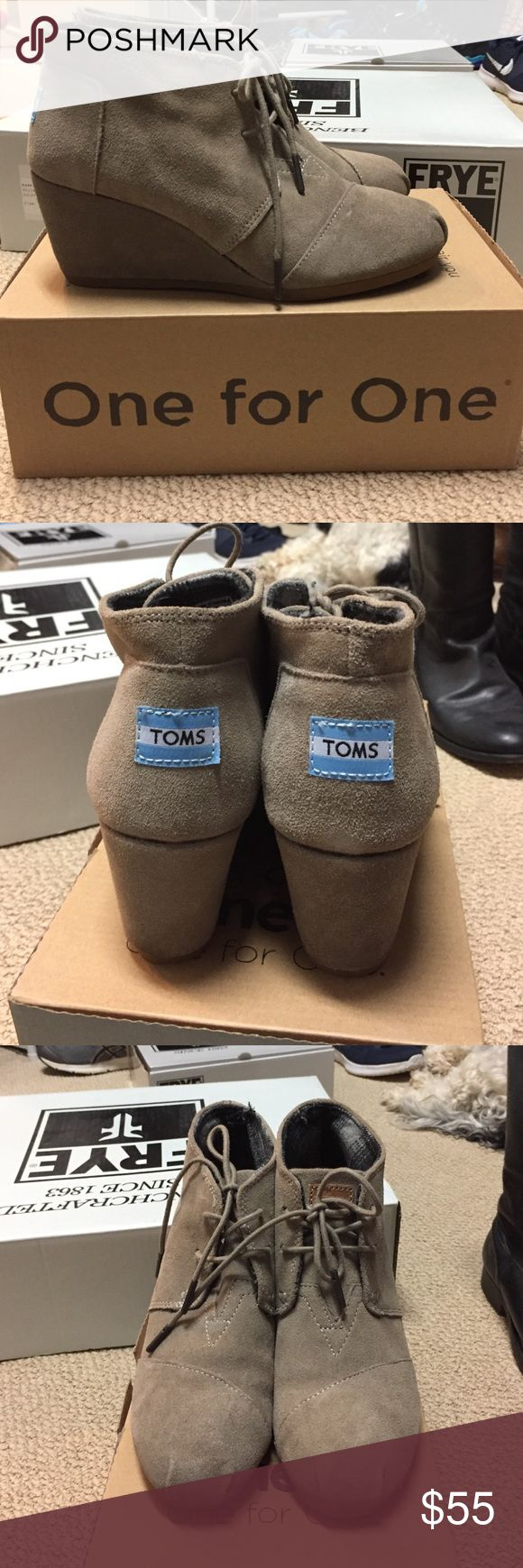 Toms desert wedge booties Toms Desert wedge booties size 7 Shoes Wedges