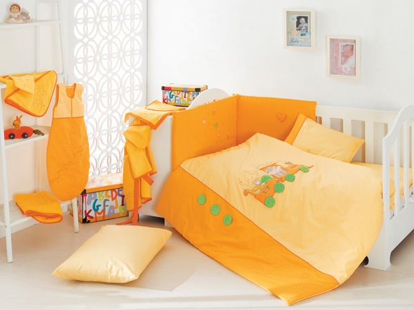 Locomotive Yellow-Baby Bedding Set