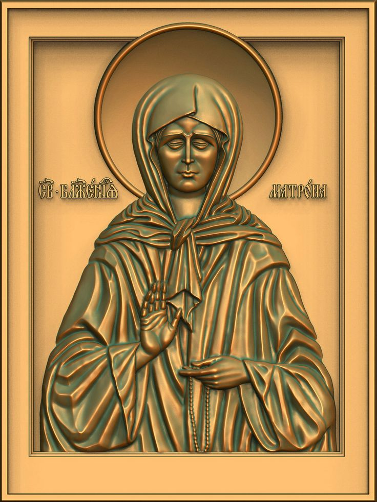 St. Matrona Moscow. Option II. 3D model for CNC milling machine. Simulation programs: MoI, ArtCam, ZBrush. Private order.