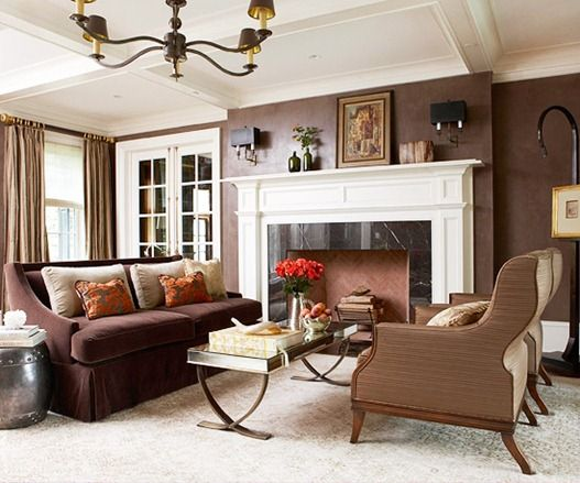10 Images About Living Room With Brown Coach On Pinterest