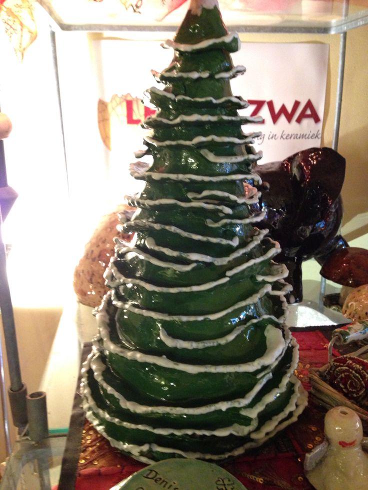 Ceramic cristmastree, keramiek kerstboom