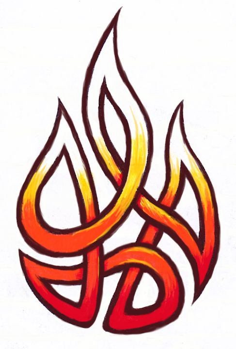 Fire tribal knot tattoo by Ashlo4