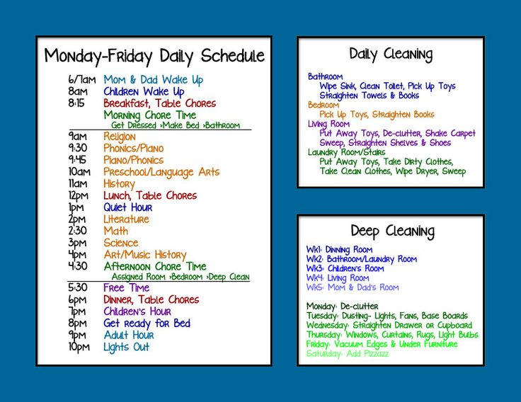 Best 25 Family Schedule Ideas On Pinterest