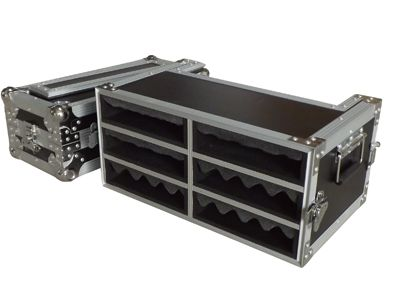high quality wireless receiver flight case , 9mm plywood , stackable ball corners , recessed industrial grade handles ,latches