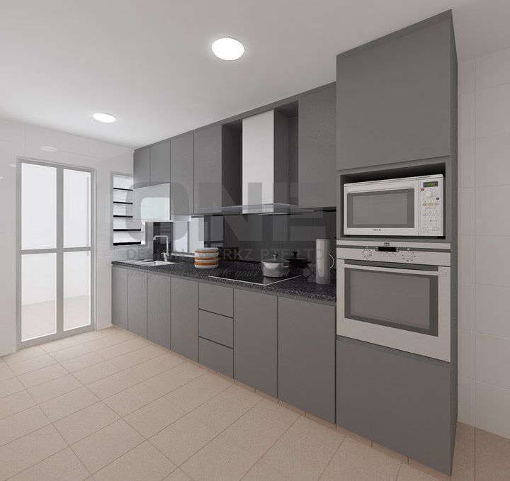 Interior Design For Kitchen For Flats: Design, Grey And