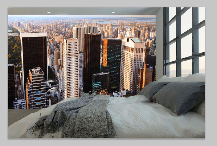 Prezentujemy sypialnię, na dachu drapacza chmur w Nowym Jorku. Jakie wrażenia? :-) http://mural24.pl/konfiguracja-produktu/20135972/ #homedecor #fototapeta #obraz #aranżacjawnętrz #wystrójwnętrz, #decor #desing