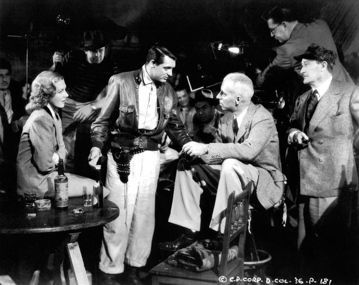 Cary Grant, Jean Arthur, and Howard Hawks in Only Angels Have Wings (1939)