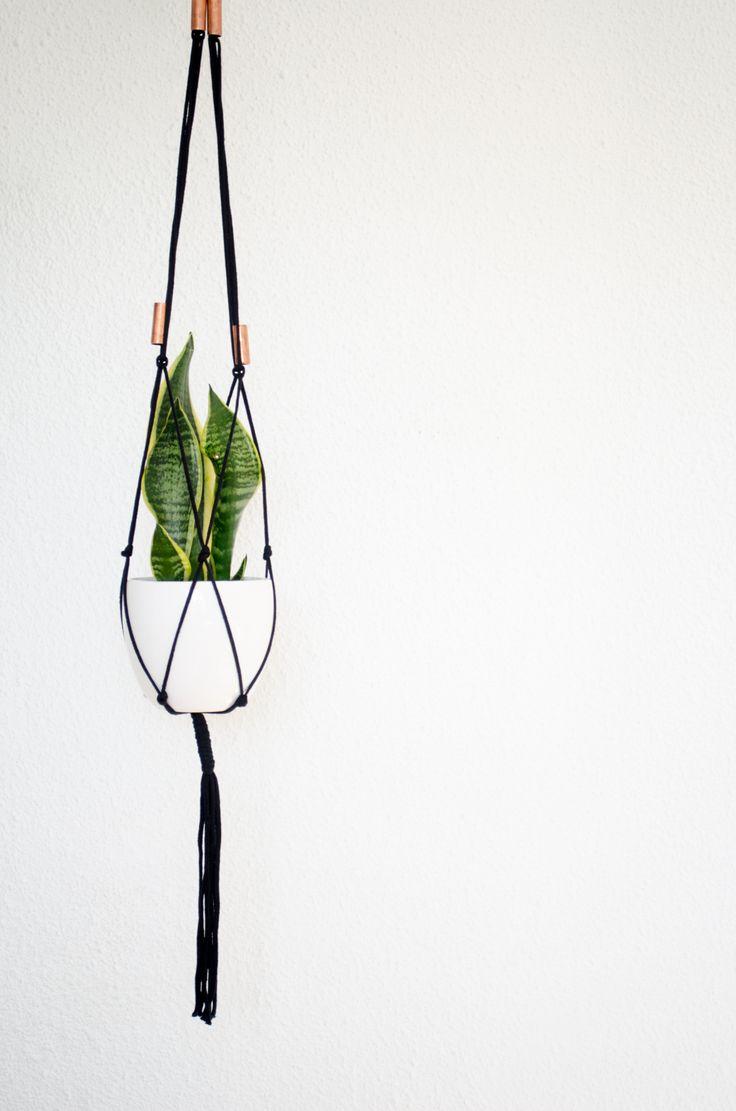 plant hanger black and copper - monoshop