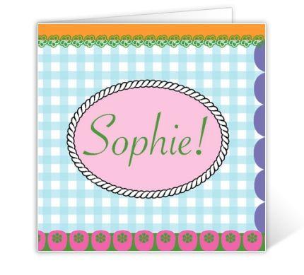 Einladung Kindergeburtstag Sophie