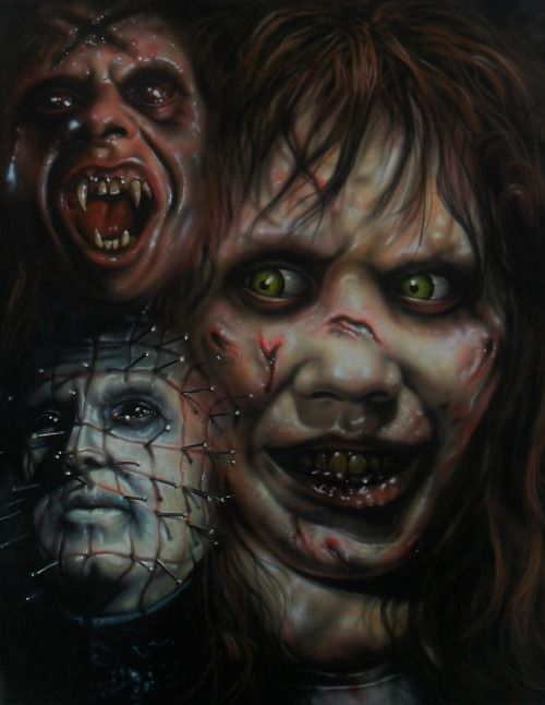Film Horror :Pinhead, Fright Night and Exorcist by... | Twisted Art For Twisted Minds