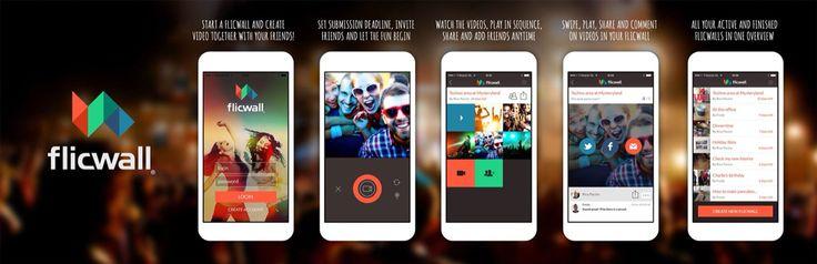Flicwall social video app - design for flicwall app