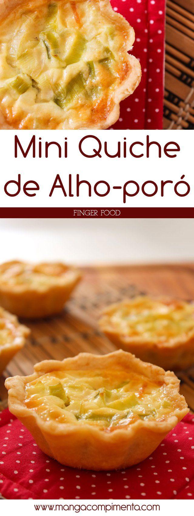 Mini Quiche de Alho-poró – Finger Food | Para servir em qualquer evento. #receitas #receita #comida #fingerfood #quiche #vegetariano