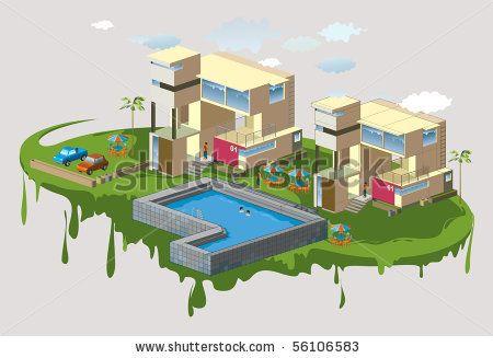 cool architecture vector illustration. #building #architect #construction #art #design #isometric #t shirt #construction #famous #modern