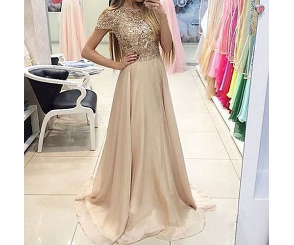 Champagne Prom Dresses Charming Evening Dress Gowns
