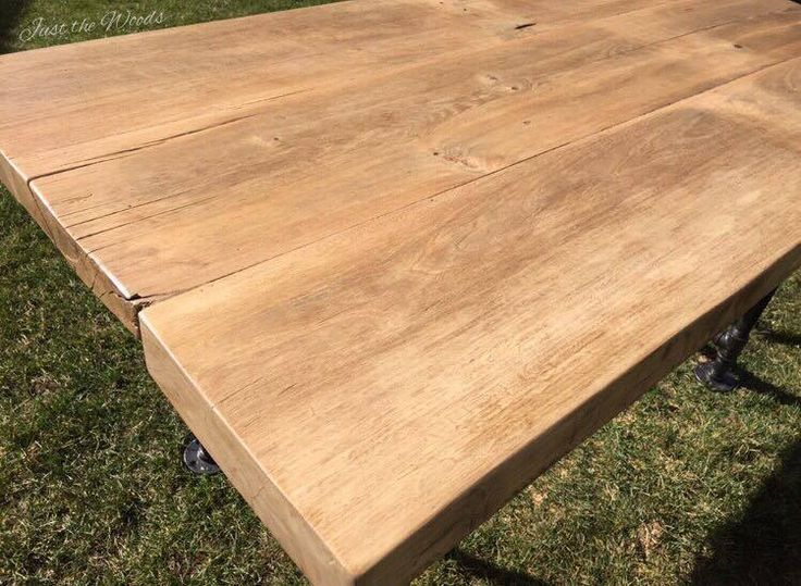 How to Build a Reclaimed Barn Wood Farm Table From Scratch by Just the Woods