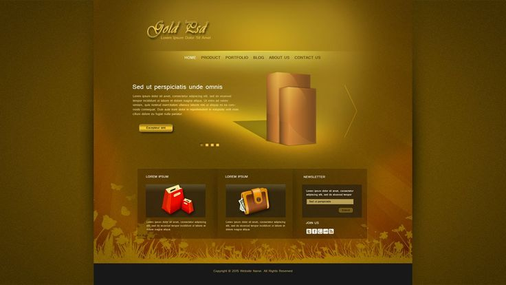 Photoshop Tutorial Web Design Gold Psd