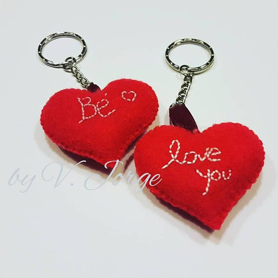 *Made to Order* Fully customized in colors but in red is perfect for Valentines. Is possible to sew the names or words at your choice Hand sewed - stuffed Please state the following when ordering: - Color; - Name or work on both hearts; Made to Order: This piece is not available and