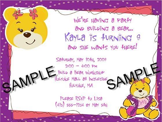 Build a Bear Workshop Birthday Party Invitations $1.00 each http://www.festivityfavors.com/item_90/Build-a-Bear-Workshop-Birthday-Party-Invitations.htm