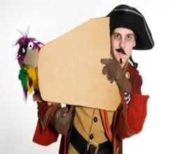 Hire our Pirate Stilt Walker and parrot for corporate fun days in London & the UK.