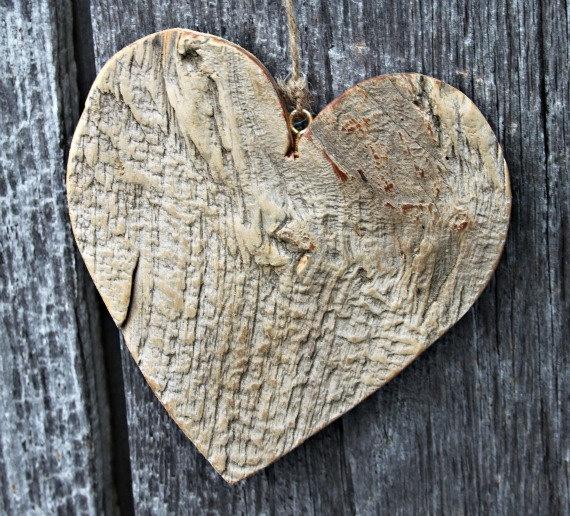 Valentine's rustic barn board heart decoration