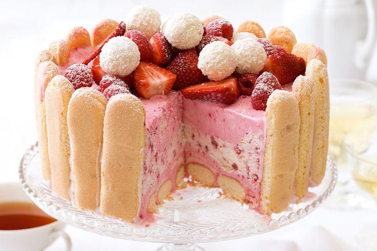 Work some magic with your freezer to make this stunning frozen ice-cream dessert cake.