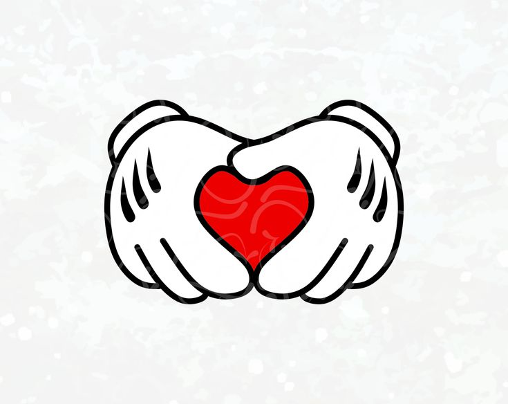 Download Mickey Heart Hands SVG - Disney svg - Mickey Love SVG ...