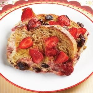 Parenting.co.id: Strawberry Bread  & Butter Pudding