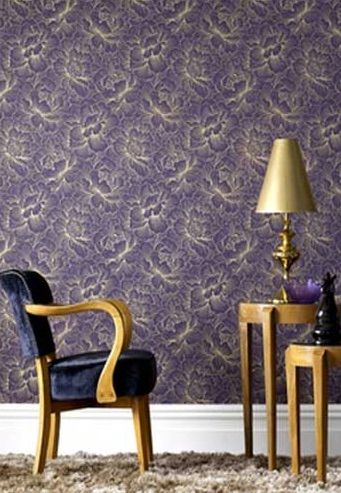 Flourish Plum is sophisticated and elegant. Available at www.wallcandywallpaper.com.au for $99 per roll.
