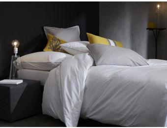 Linge de lit  - #gris #blanc Parure de lit - linge de maison - housse de couette Percale de coton Blanc Cerise