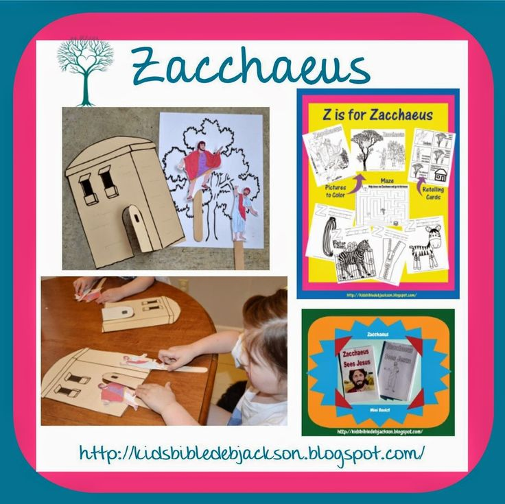 Bible Fun For Kids: Preschool Alphabet: Z is for Zacchaeus