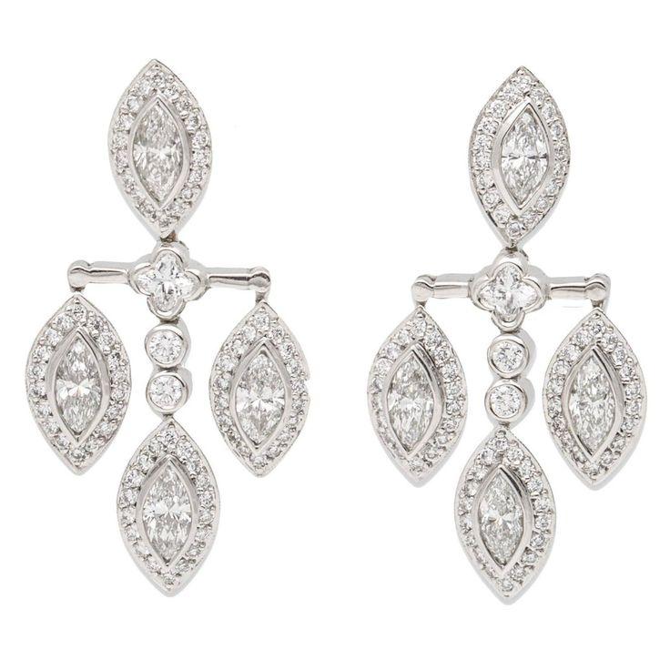 Angara Round Enhanced Blue Diamond Three Stone Stud Earrings(3.6mm) D1iBuJW