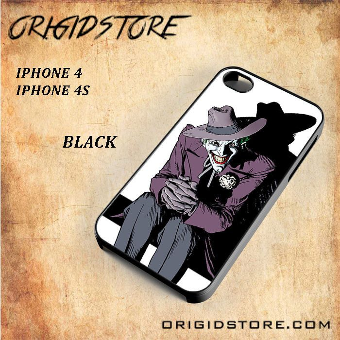 Smiling Joker DC Comic For Iphone 4/4S Snap On and 3D Case