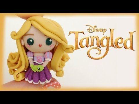 Disney's Tangled Chibi Rapunzel Polymer Clay Charm Tutorial / Arcilla Polimérica - YouTube