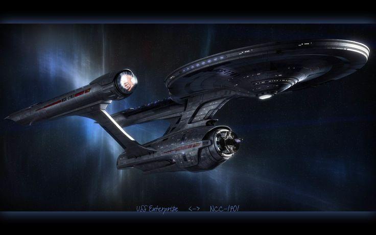 Crucero de batalla USS Enterprise NCC-1701 clase Constitucion de 2245 en la serie televisiva Star Trek  (1966) y perteneciente a la Flota Estelar de la Federacion Unida de Planetas.