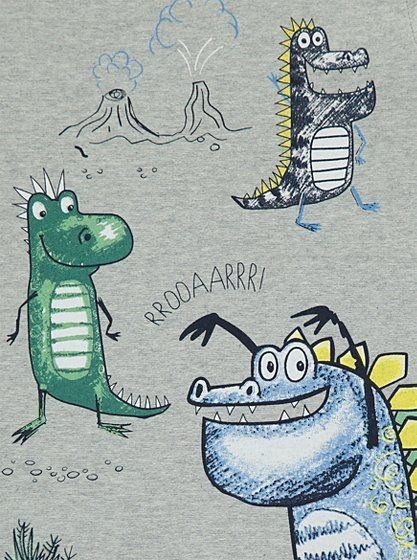 3 Dinosaur Long Sleeve Top, read reviews and buy online at George at ASDA. Shop from our latest range in Kids. Your little monster will look and feel grrrrea...