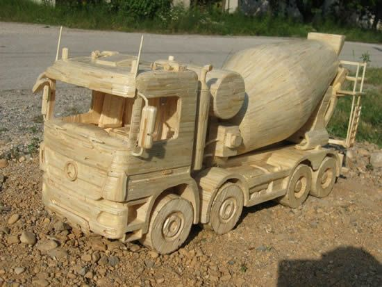 Djordje Balac, from Croatia, spends months at a time building amazing models of industrial vehicles from thousands of matchsticks and glue