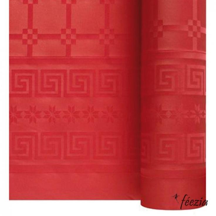 Nappe Papier Unie Rouge 50m