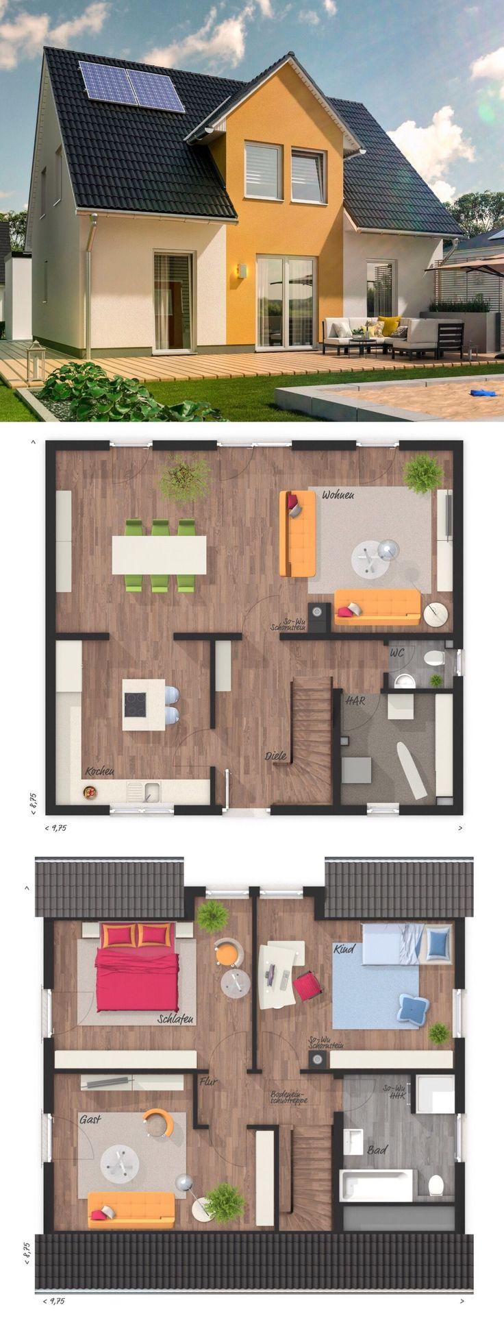 Einfamilienhaus architektur klassisch mit satteldach for Einfamilienhaus klassisch