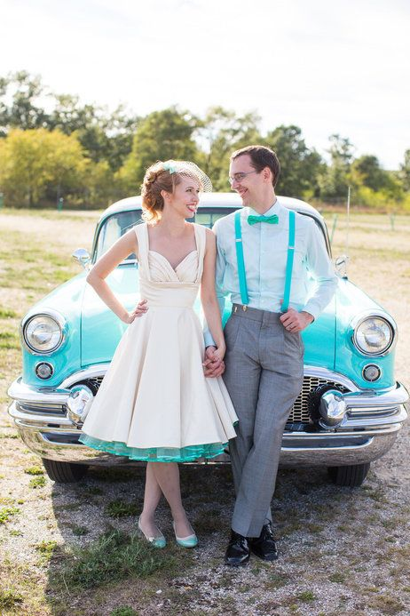 Retro Vintage Wedding Dress | Vintage Mint Wedding Charm