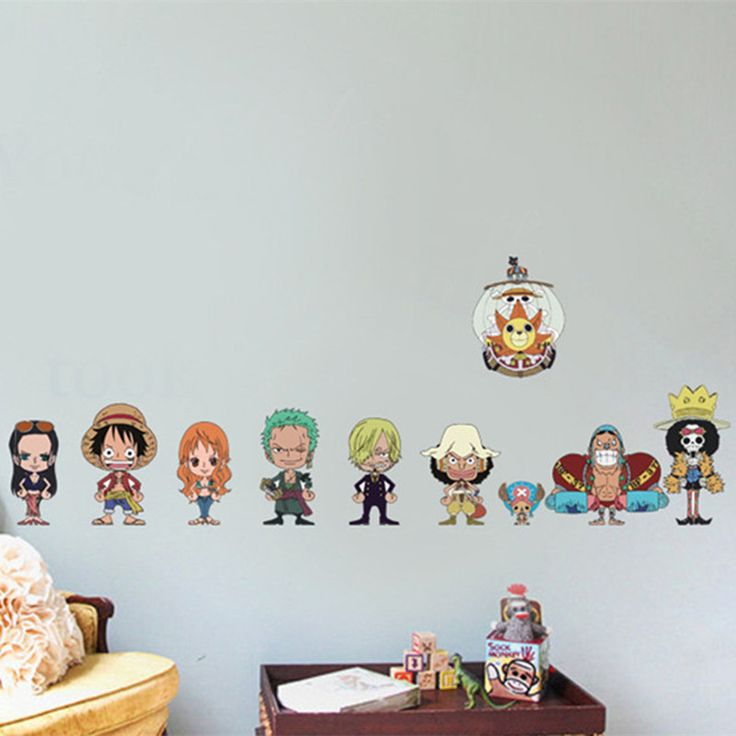 One Piece Anime Figures Wall Decals 3D Vinyl Home Decor Kids Room //Price: $17.00 & FREE Shipping //     #onepieceluffy #onepiecefigure #dluffystore
