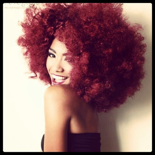 Afro rojo!