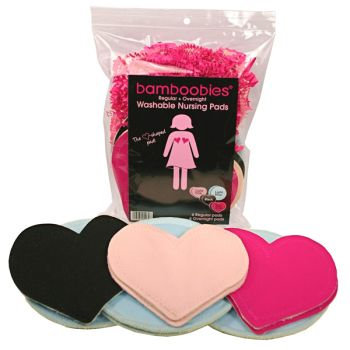 Bamboobies are the absolute BEST breast pads ever! They are soft, absorbent, reusable, washable and so cute! They can also be purchased at Amazon and Babies R Us.