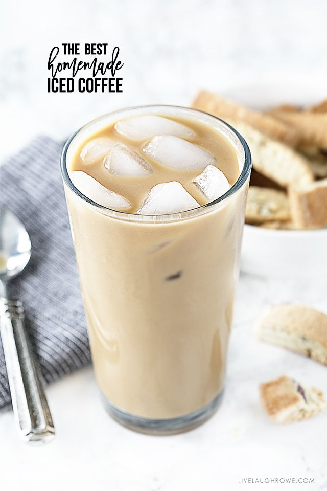 Homemade iced coffee that is perfectly flavored with light cream and light sugar. Grab the recipe at livelaughrowe.com   #SeattlesBestCoffee #ad #SignatureBlendNo5