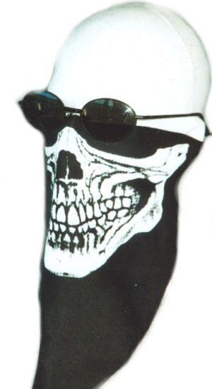 Motorcycle Skull Face Mask Warmer Biker Doo Rag Ski USA American Made Stretch #SE #SkullCapDooRag