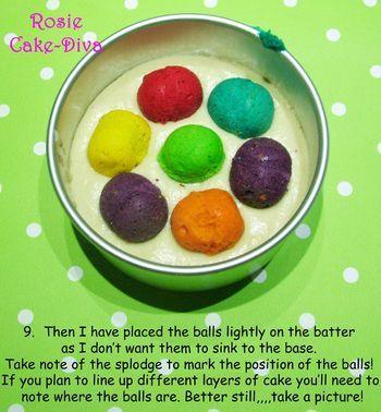 Make A Polka Dot Inside Cake Aka My Spotty Dotty
