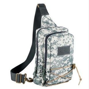 Outdoor 3P Utility Duffle Bags Hiking Messenger Canvas Chest Pack Tactical Molle Backpack