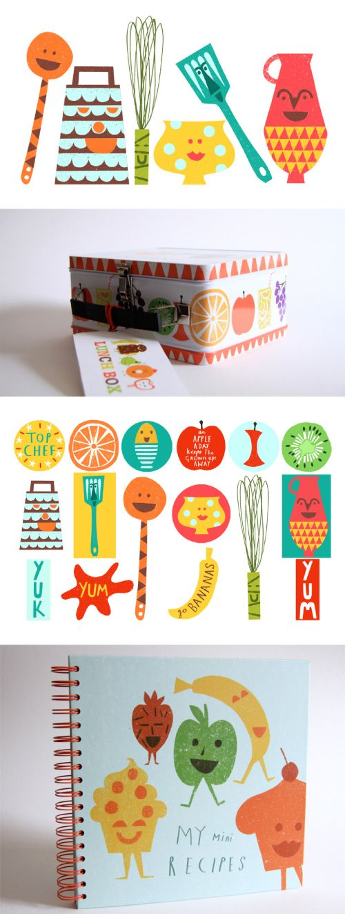 illustrations by Debbie Powell for products by Jamie Oliver
