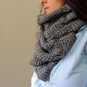 Over Sized Cowl Scarf - via @Craftsy