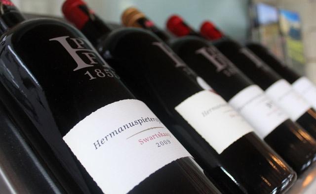 Zuid-Afrikaanse wijn van Hermanuspietersfontein